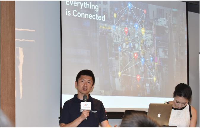 Google Maps JAPAC Partner Sales Manager - Jake Hirakawa 來台和與會企業代表分享 Goolge Maps 當前發展趨勢與現況